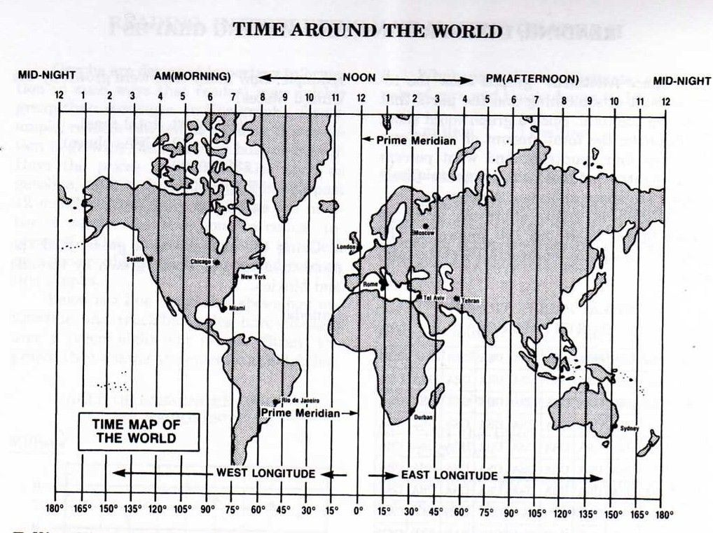 Math Worksheets Time Zones 927457