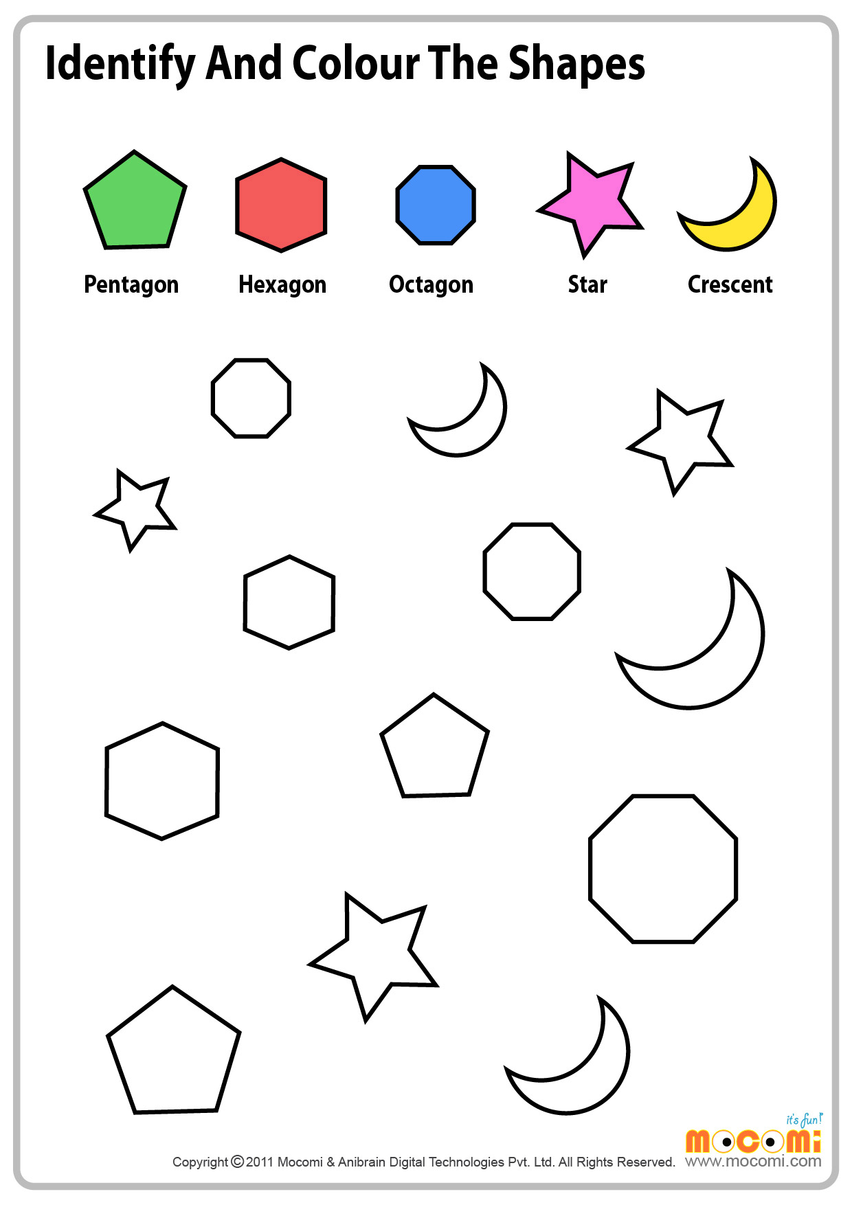 Math Worksheets With Shapes