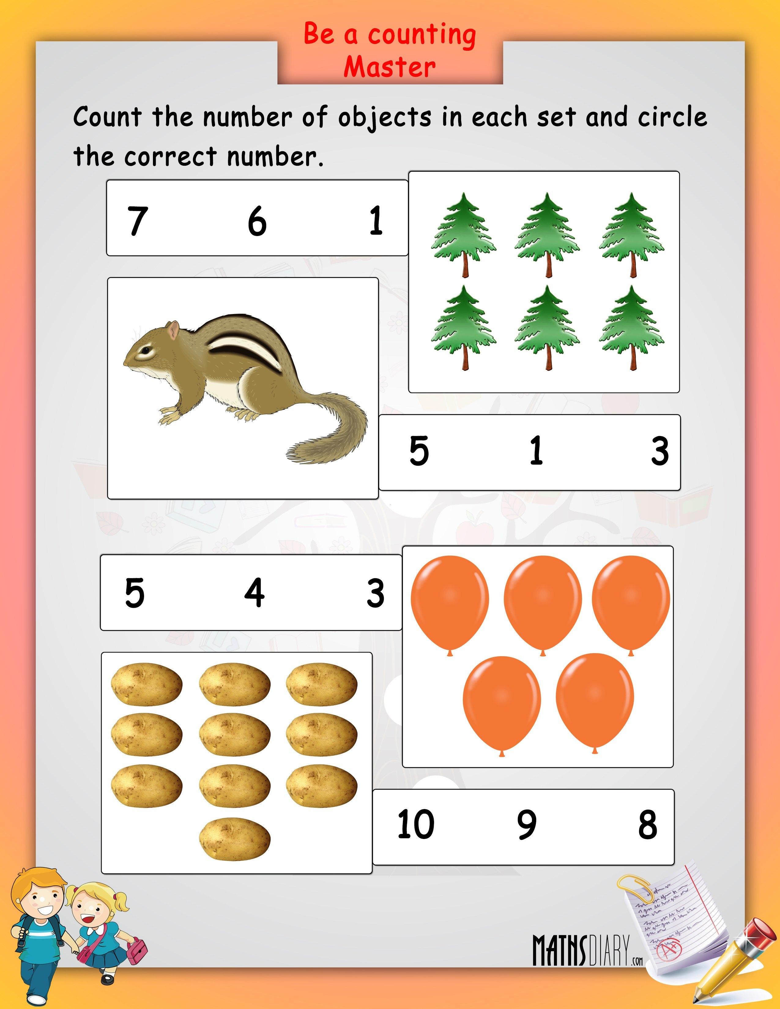 Mathematics Worksheets For Lkg  1269912