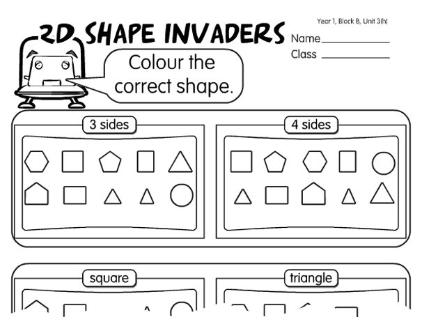 Maths Worksheets Ks1 Shapes 1273303