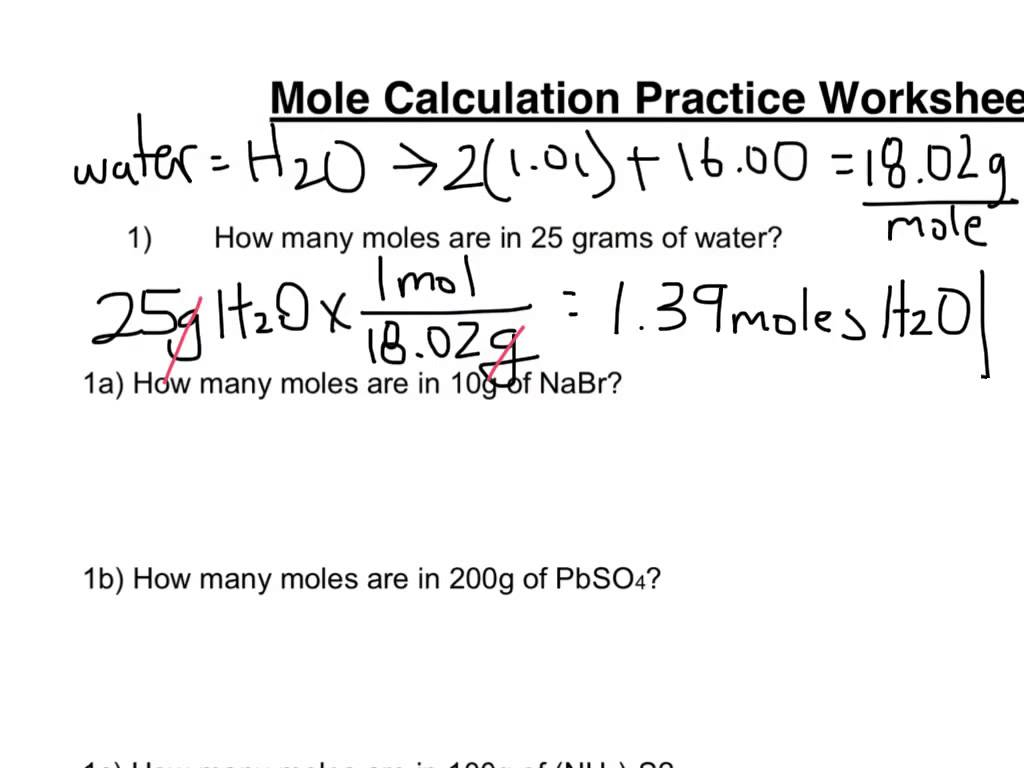 Mole Mole Stoichiometry Worksheet 671161