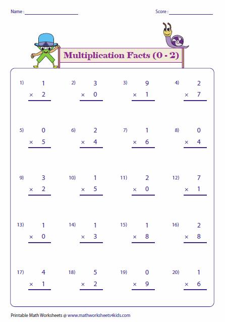 Multiplication Facts Worksheets Multiplication Worksheets 0 3