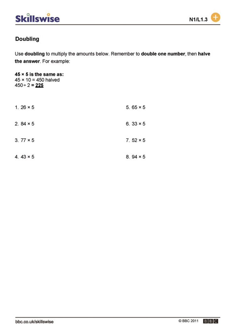 Multiplying Doubles Worksheets  1002992
