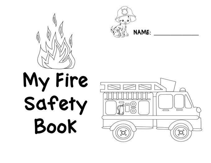 Preschool Fire Safety Booklet Printables