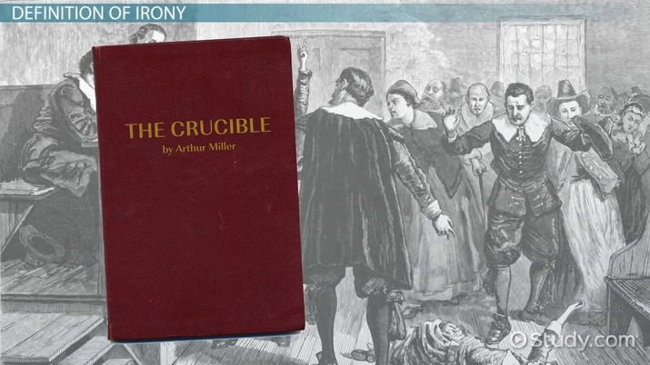 Irony & The Crucible  Dramatic, Verbal & Situational
