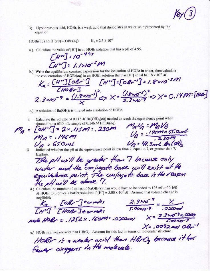 Net Ionic Equations Advanced Chem Worksheet 10 4 Answers 19 Best