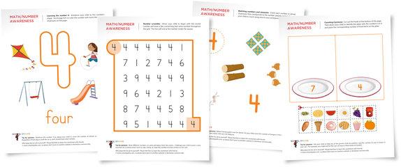 Number 4 Worksheets