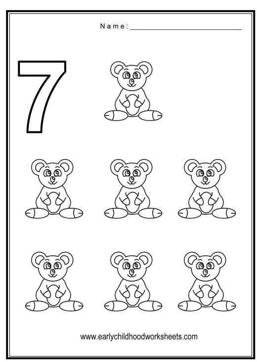 Number 7 Tracing Worksheets For Preschool  1084411