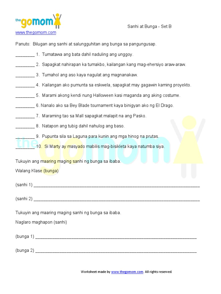 Pang Ugnay Worksheet Grade 2  793029