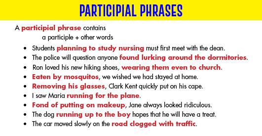 Participial Phrase