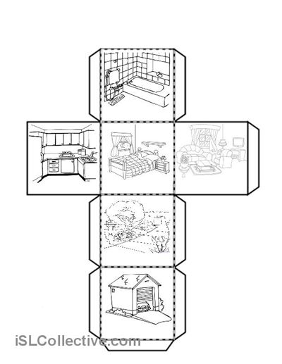 Parts Of A House Worksheets For Preschool
