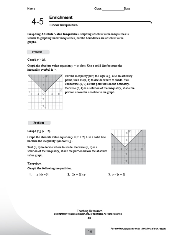 Pearson Education Inc Math Worksheet Answers Worksheets For All