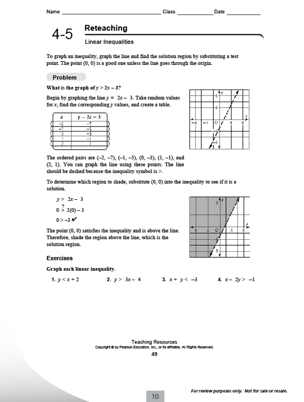 Pearson Education Math Practice Worksheets