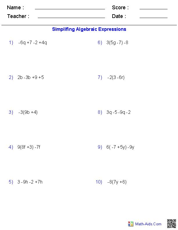 Physics Math Worksheet Algebra And Substitution  412913