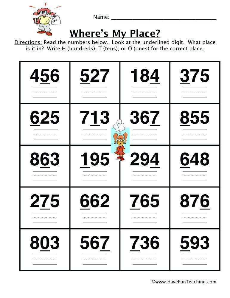 Place Value Worksheet Hundreds Tens Ones Free Worksheets 2nd Grade