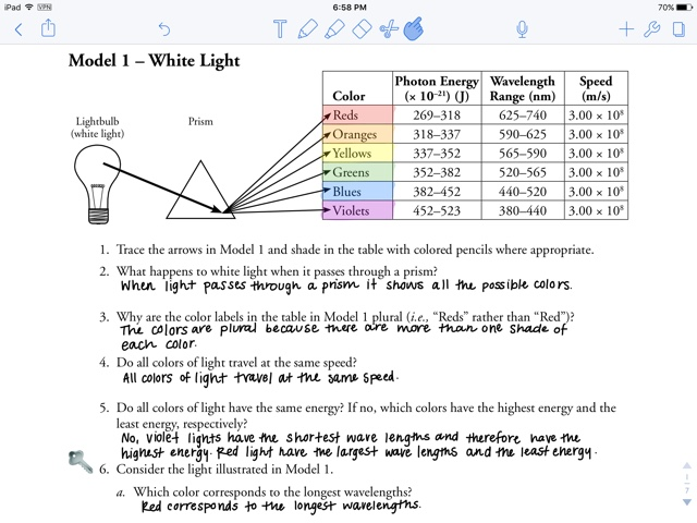 Pogil  Electron Energy And Light