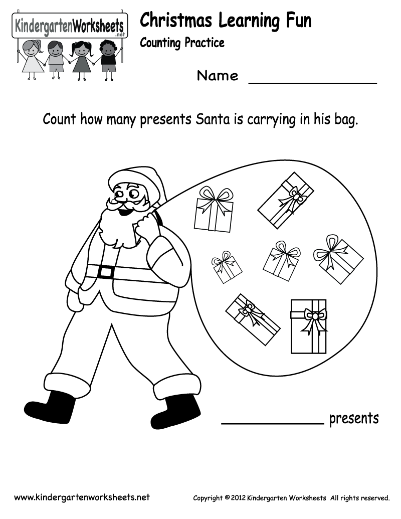 Preschool Christmas Worksheet Printables 554434