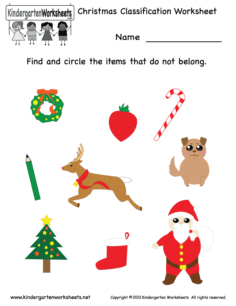 Preschool Christmas Worksheet Printables 554456