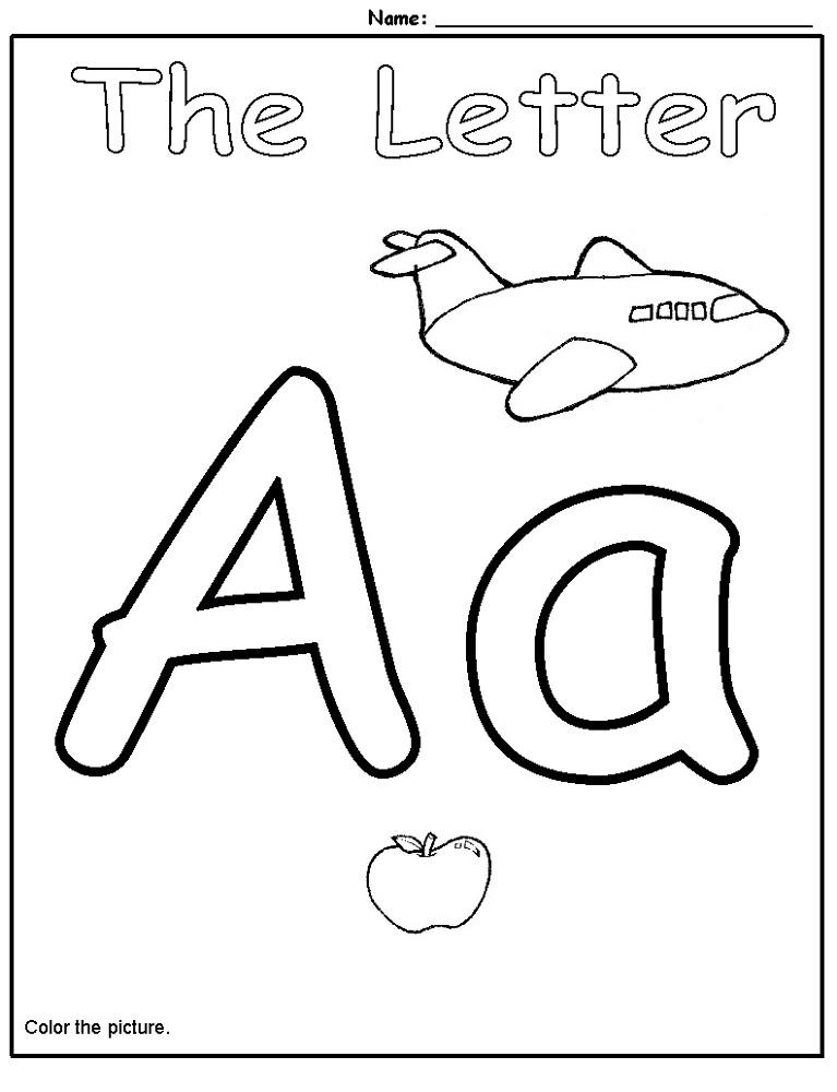 Preschool Letter Worksheets  1042640