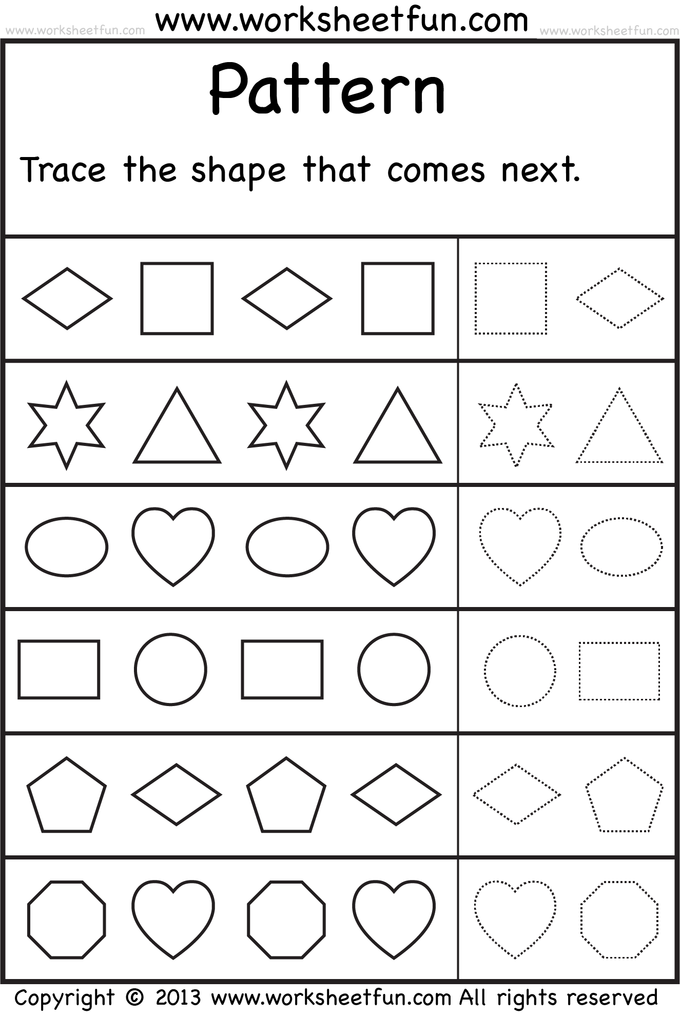 Preschool Printable Pattern Worksheets  1004772
