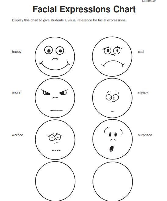 Preschool Worksheet Emotions  950146