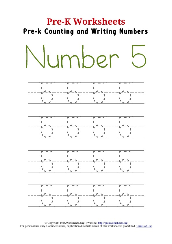 Preschool Worksheet Number 5  317697