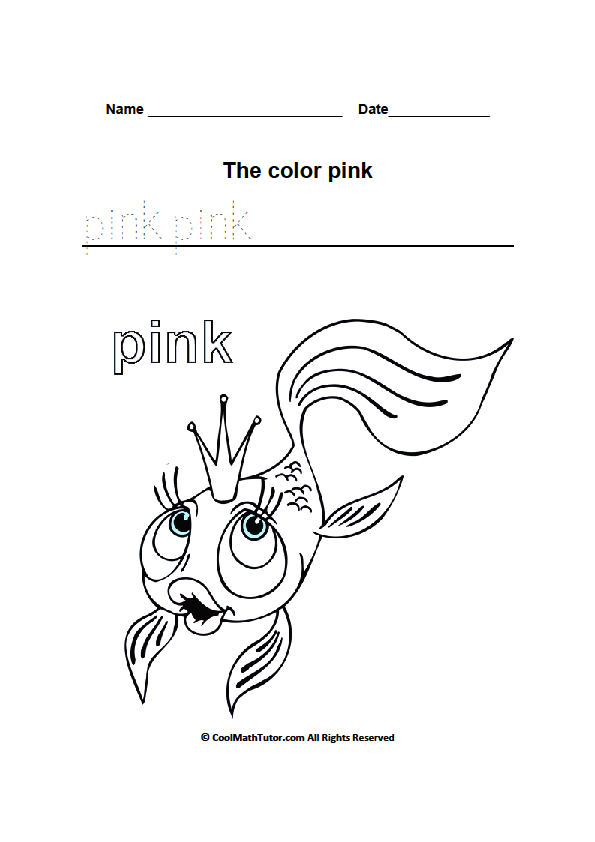 Preschool Worksheets For The Color Pink  349631