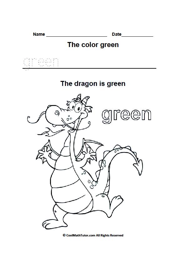 Preschool Worksheets Green 1397486