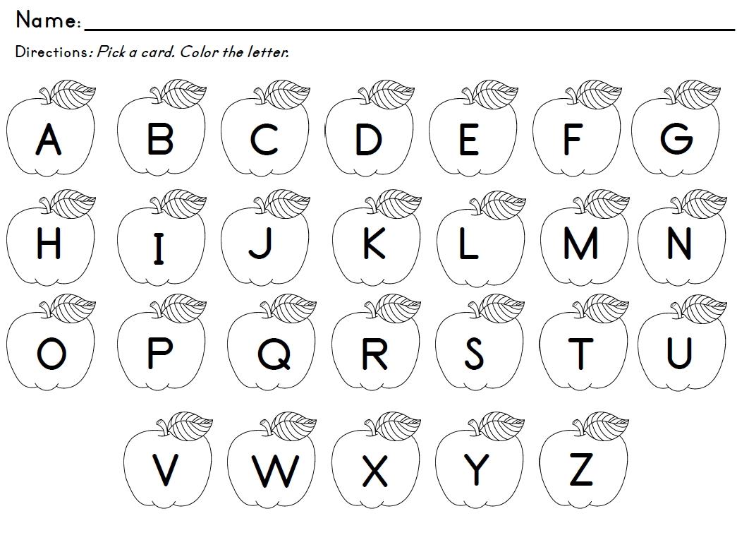 Preschool Worksheets Letter Recognition  238861