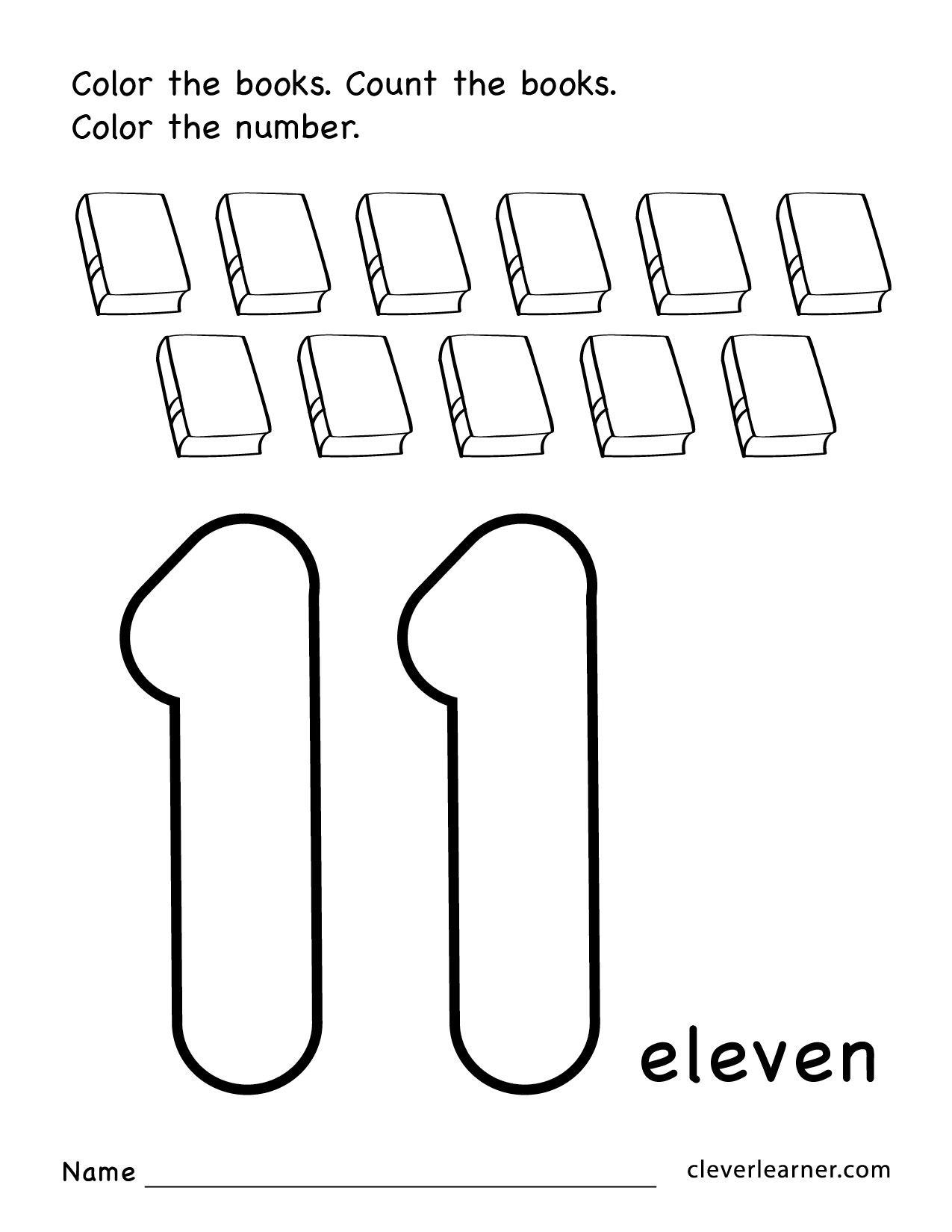 Preschool Worksheets Number 11  216268