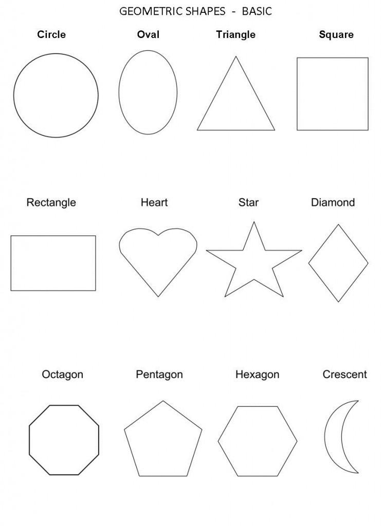 Preschool Worksheets Shape Recognition 1408157