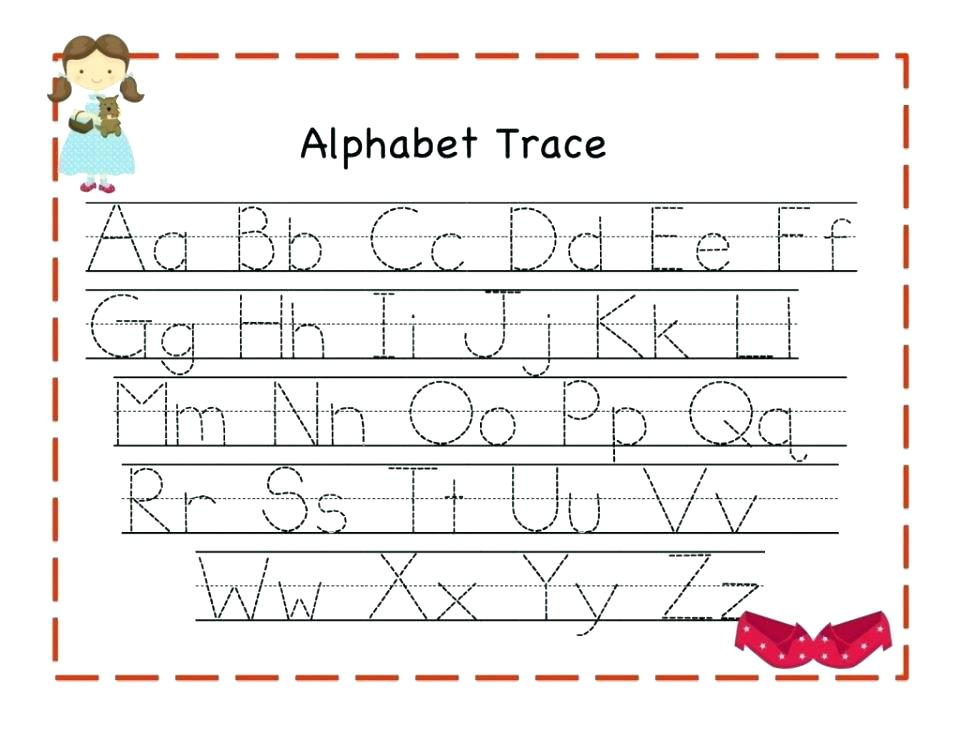 Printable Alphabet Tracing Worksheets Free Printing Letter For
