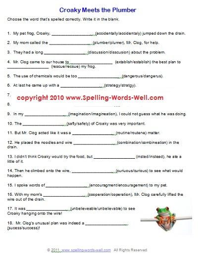 Printable English Worksheets For 6th Grade Mreichert Kids Worksheets