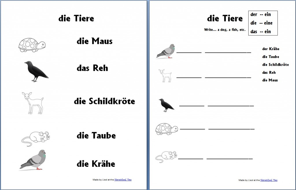 Printable German Worksheets For Kindergarten  840428