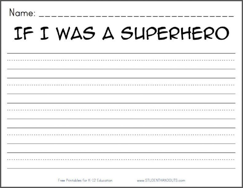 Printable Kindergarten Writing Worksheets Free 647305
