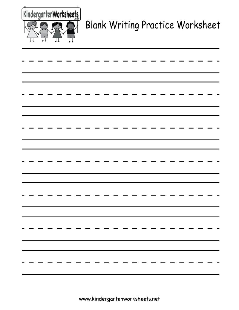 Printable Kindergarten Writing Worksheets Free  647291