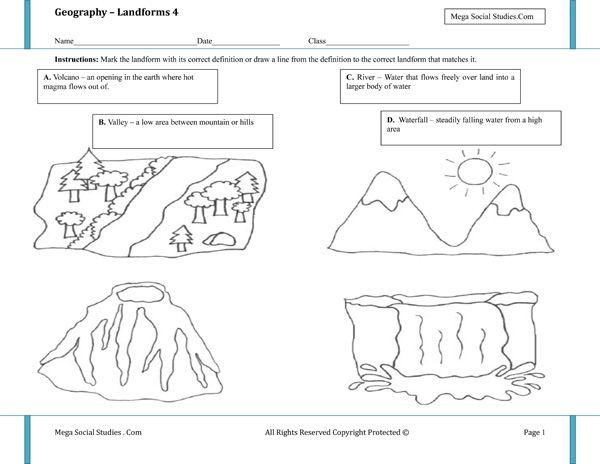 Printable Landform Worksheets