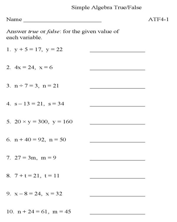 Printable Math Worksheets 9th Grade  842995