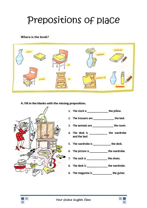 Printable Preposition Worksheets Kindergarten  1239033