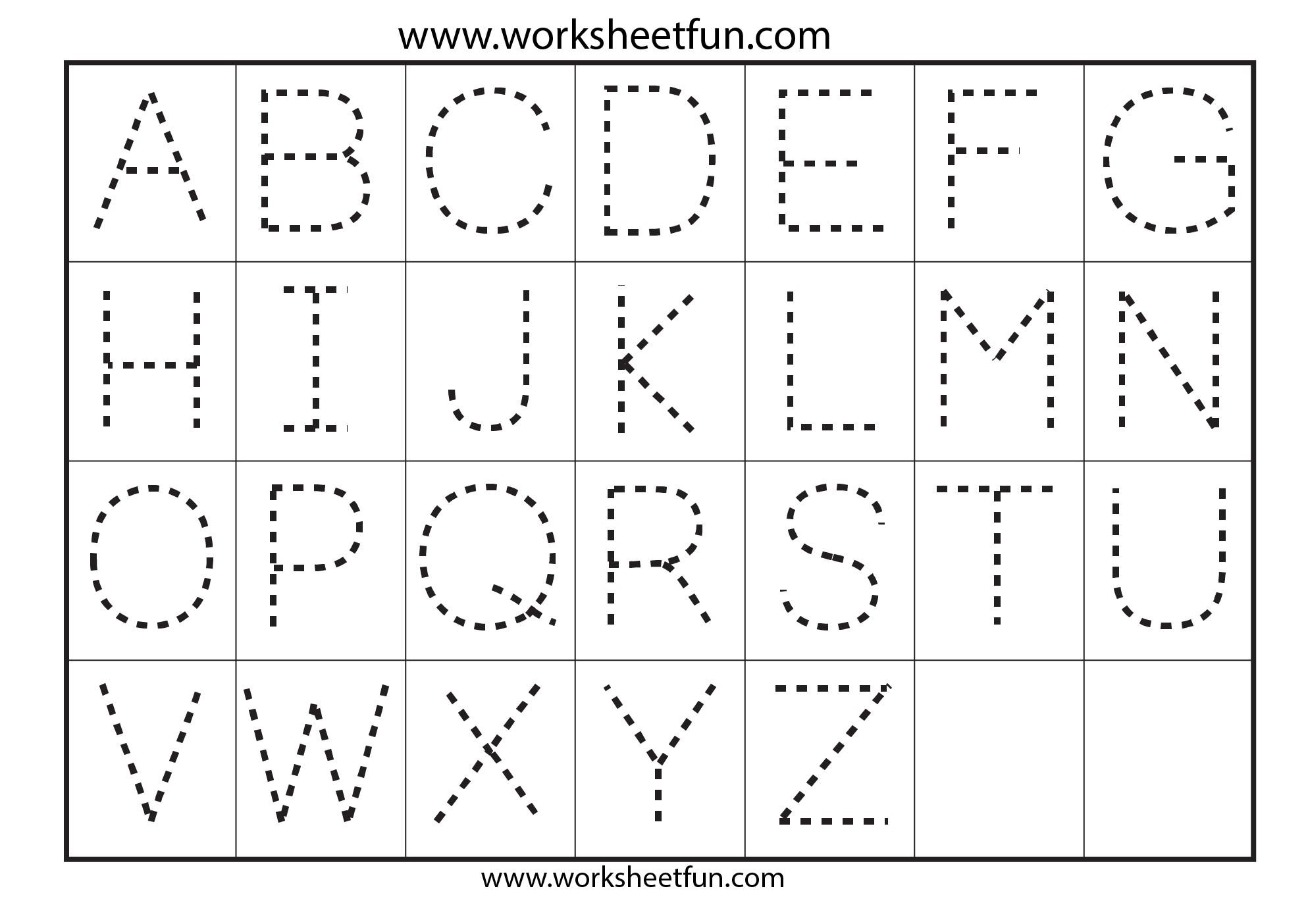 Printable Preschool Alphabet Tracing Worksheets 1205629