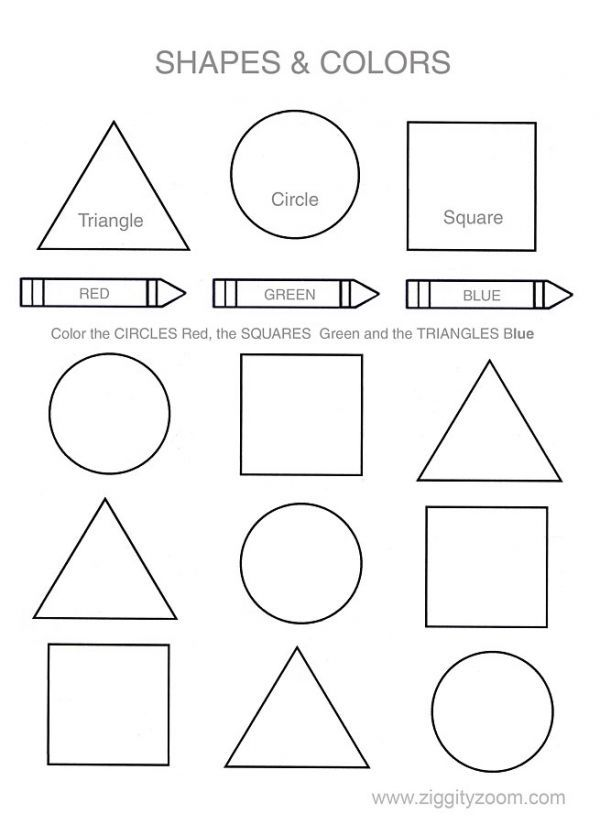 Printable Worksheets For Preschool Shapes  909593
