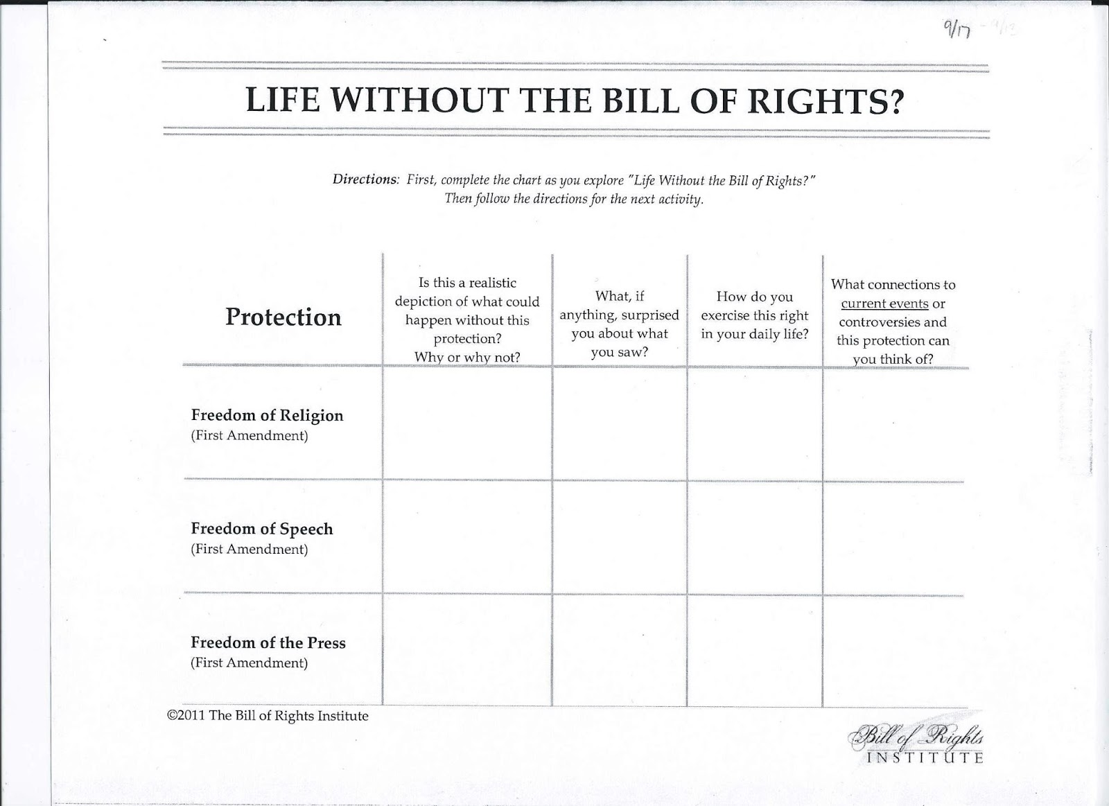 Printables Bill Of Rights Worksheets Safarmediapps, Bill Of Rights
