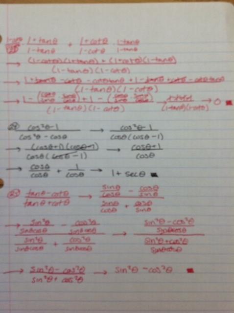 Proving Trigonometric Identities Worksheet, Proving Trig