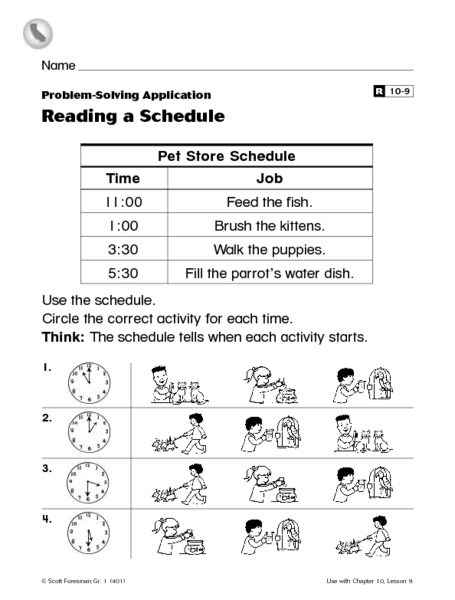 Reading A Schedule Worksheet The Best Worksheets Image Collection