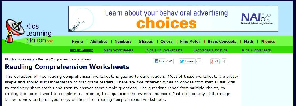 Reading Comprehension Worksheets Worksheetsjpg Advertisement – Crowntv