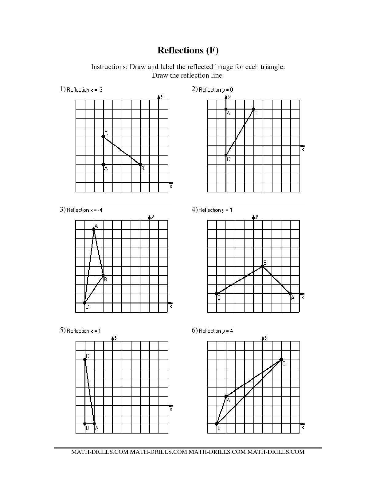 Reflections Geometry Worksheets The Best Worksheets Image
