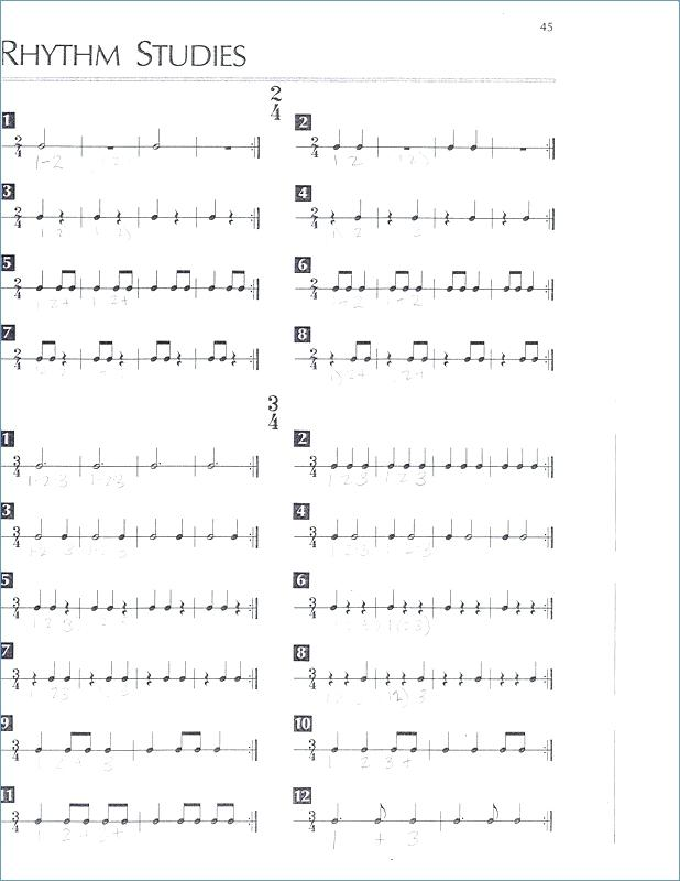 Rhythm Elementary Worksheets Pdf Table Of Rests And Notes