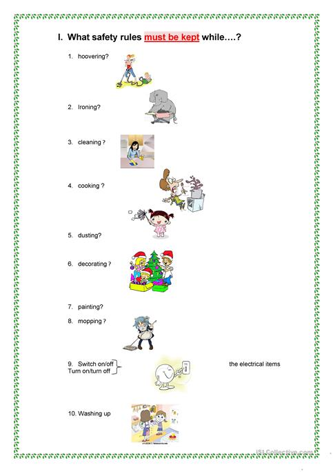 Safety Rules At Home  Worksheet