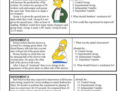 Science Method Worksheet Fresh 16 Simpsons Scientific Method