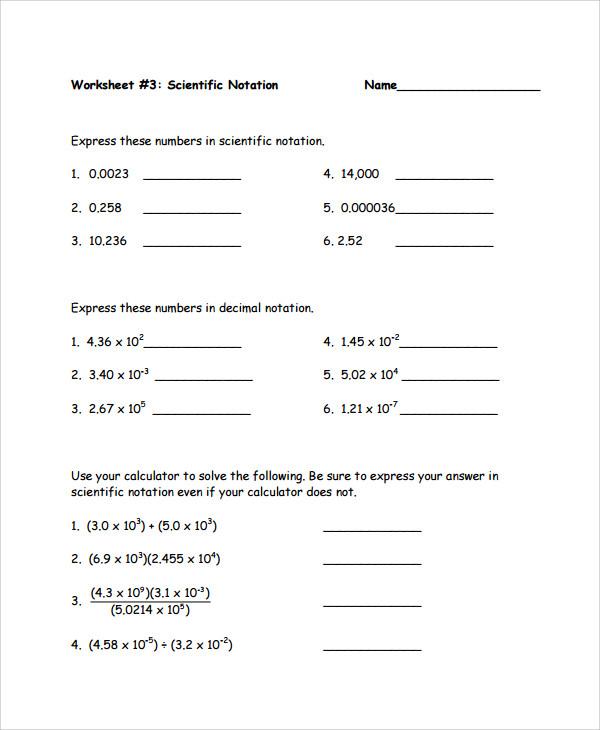 Scientific Notation Worksheet Chemistry 24 Fantastic Scientific